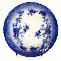 Antique Flow Blue Serving Plate Platter LaBelle Wheeling Pottery Country Cottage