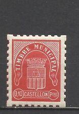 4091-sello local Castellon municipal,España guerra civil nuevo **.bonito y raro.
