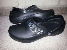 Crocs Womens Size 7 Black Rubber Clog Sandals Shoes