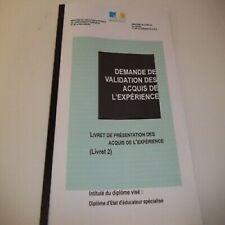 LIVRET 2 VAE EJE + QUESTIONS ORALES JURY / EDUCATEUR DE JEUNES ENFANTS