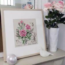 French Cross Stitch Semi Kit Etude a la Rose. Rose study Queen Elisabeth