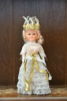 Fabulous VINTAGE Costume Doll of a St Lucia? Candle Crowned Christmas Doll 21cm