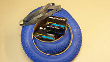 TWO Duro 12 1/2 X 2 1/4 Inch Bicycle Tires-Blue INCLUDES TUBES/2 Rim Bands
