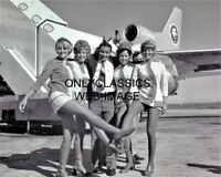 1970's PSA AIRLINES FLIGHT ATTENDANTS KICK LEGS PHOTO TRI-STAR AIRPLANE AVIATION