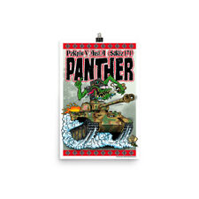 German WW2 Panther Tank Poster - Rat Fink Hot Rod Style - Dave Gink Design