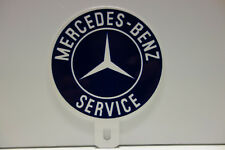 "MERCEDES BENZ SERVICE ""LOLIPOP"" License Plate Topper 4 1/4"" High 3 1/2"" Wide!"