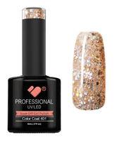 401 VB Line Beige Silver Glitter - gel nail polish - super gel polish
