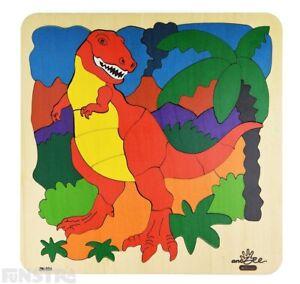 Dinosaur Puzzle | Tyrannosaurus Rex Wooden Jigsaw Puzzle | Dinosaur Toys & Games
