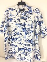 Polo Ralph Lauren Men's Size 3XLT Blue White Marlin Fishing Boat Shirt Big& Tall