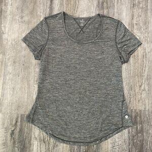 Apana Women's Top Yoga Active Athletic Short Sleeve T Shirt Size Large Gray