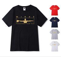 NEW Gold Print Mens T-shirt Michael Air 23 Jordan Wings Men shirt Top Fashion