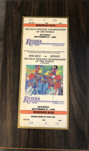 Holmes Vs Spinks Heavy Weight Championship Of The World 09/21/1985 Ticket