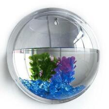 Wall Hanging Mount Plant Bubble Aquarium Bowl Fish Tank Aquarium Home Wall Decor