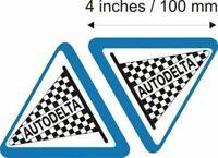 "2x Autodelta 4"" Alfa Romeo Stickers Decals giullia alfa giulia cloverleaf Mito"