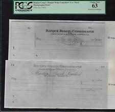 Belgian Congo - Banque Belgo-Congolaise S.A Check 1960 Photographic Proof Unc