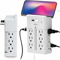 Aduro Surge Wall Charging Tower 12 Outlets 2 USB Port Wall Smart Charger Outlet