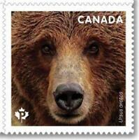 2019 Canada 📭 🐻 GRIZZLY BEAR 🐻🐻 MNH Single Stamp from a Booklet 🐻📬