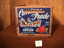 Vintage FALL Wooden Apple Crate CARRIAGE TRADE NORTHWEST BRAND, New York, NY