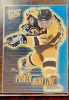 1996-97 Fleer Ultra Ray Bourque Power Blue Line.  Mint. 160/1082