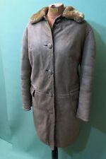 Schöner Lamm Fell Mantel Damen echt Leder Gr 38 / M vintage braun shearling coat