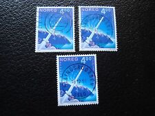 NORVEGE - timbre yvert et tellier n° 1020 x3 obl (A04) stamp norway (A)