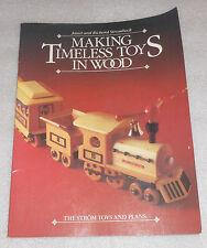 Making Timeless Toys Wood Janet Richard Strombeck 1986 PB Strom Plans Woodwork