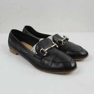 Salvatore Ferragamo Ladies Black Leather Driver Loafers Size 8M