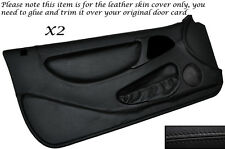 BLACK STITCH 2X FULL DOOR CARD LEATHER SKIN COVERS FITS LOTUS ELAN M100 89-95