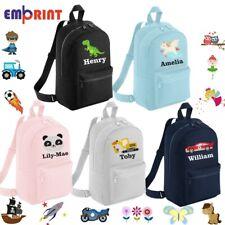 Personalised Mini Kids Backpack Toddler Nursery School Bag Embroidered Rucksack