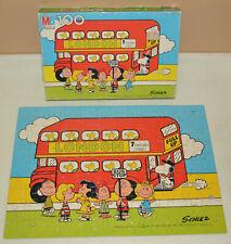 Vintage 100 piece jigsaw puzzle 4382-5 - Peanuts 1966 - London Bus Stop