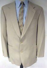 Franco Tassi Men's Sport Coat Jacket Two Button Beige Wool Size 40 R 40 Regular