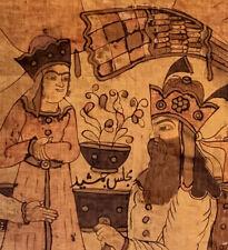 Amazing Rare Antique Persian Painted Pictoral Cotton Kalamkari