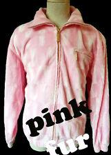 PINK velvet faux pony fur cross track jacket vintage pimp hustler HIP HOP colors