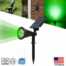 Solar Power Spot light Green Garden Outdoor Path Landscape Lamp Walkway IP65 US