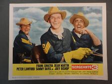 "SERGEANTS 3 8 LCs '62 John Sturges, Frank Sinatra, / 11""x14"" Lobby Card Set"