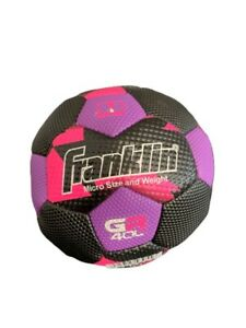 Franklin Sport Micro Soccer Ball Size And Weight Grip Rite 400 Purple/Black/Pink