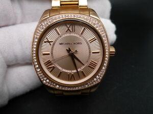 NEW OLD STOCK MICHAEL KORS MINI BYRN MK6330 ROSE GOLD QUARTZ WOMEN WATCH