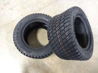 TWO 18x8.50-10 Carlisle Titan Multi Trac C/S Tires 215/50-10 w/free stem 5743U11