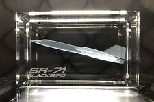 Air & Space  SR-71 'Blackbird' Crystal Glass 3D Laser Etched Paperweight