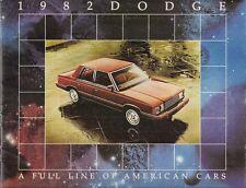 DODGE 1982 mercati di esportazione le vendite opuscolo Omni O24 CARICABATTERIE ARIES MIRADA LEBARON