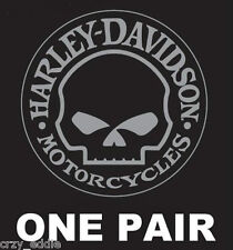 HARLEY DAVIDSON WILLIE G SKULL DECAL **ONE PAIR** MADE IN USA