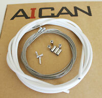 Aican PREMIUM ROAD bike bicycle BRAKE cable housing set kit Jagwire, White
