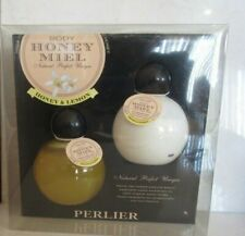 PERLIER BODY HONEY MIEL HONEY & LEMON SHOWER GEL & LOTION 6.7 OZ EACH BOXED