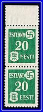 ESTONIA 1941 NAZI GERMANY OCCUPATION SC#N4 MNH pair CV$20.00 WWII, ARMS