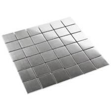 métal CARRELLAGE mosaïque mosaïque Metalique acier inox 4,8 x 4,8 cm brossé