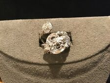 Vintage Heavy Wallace Baroque Sterling Silver Spoon Ring Size: 6-8, 8 grams