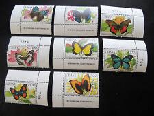 Ghana Schmetterlinge 1990, Mi.Nr. 1354/61 postfr. aus den Bogenecken (P0743)