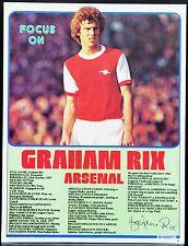 FOOTBALL PLAYER FOCUS GRAHAM RIX ARSENAL SHOOT