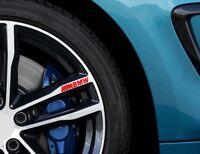 For BMW M SPORT Car VINYL (4 x STICKERS) Alloy Wheel GRAPHICS JDM DECALS