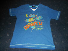 "Boys blue George ""I am in control"" t-shirt age 4-5"